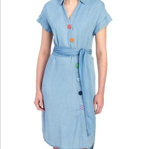 Chelsea and Theodore Chambray Lyocell Shirt dress